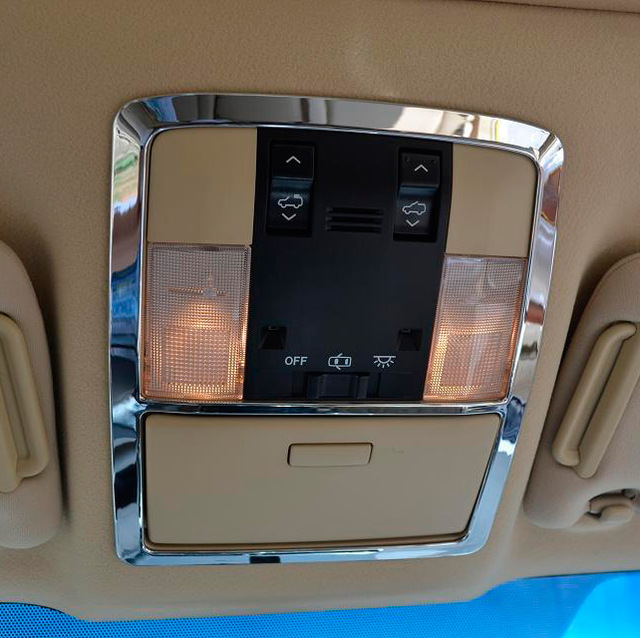 ABS Chrome Interior Reading Light Decoration Cover For <font><b>Toyota</b></font> Land Cruiser Prado FJ <font><b>150</b></font> Accessories 2010-2018 image