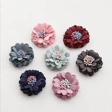 5pcs/lot 3cm Fabric Flower Fiber leather Flower Decoration Flower For DIY Accessories Craft Handmade DIY Supplies()