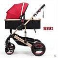 Ребенка столлер сверхлегкий четыре колеса Складной зонтик Младенческой Багги-Легкий вес Коляски Коляска Обратимым Противоударный Перевозки