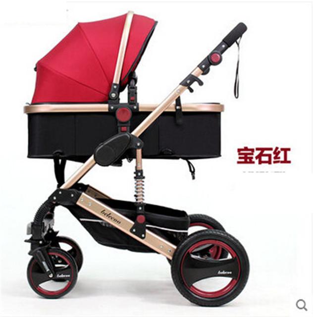 Stoller bebé ultra-ligero de cuatro ruedas Bebé Cochecito ligero Plegable paraguas Cochecito Cochecitos Reversible Carro A Prueba de Golpes