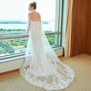 Image 3 - Dressv elegancka suknia ślubna syrenka bez ramiączek watteau pociąg aplikacje koronkowa długość podłogi suknie ślubne na zewnątrz i suknie ślubne do ślubu kościelnego