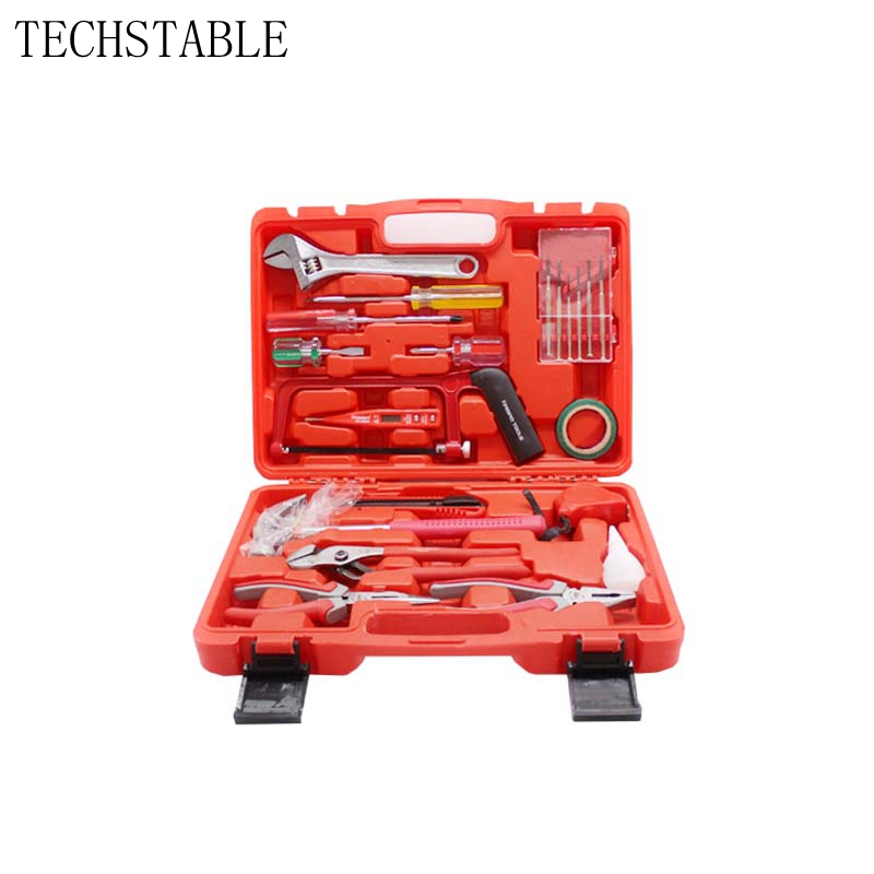 TECHSTABLE High quality household tools set Manual toolbox Kit Home Hardware Set цена