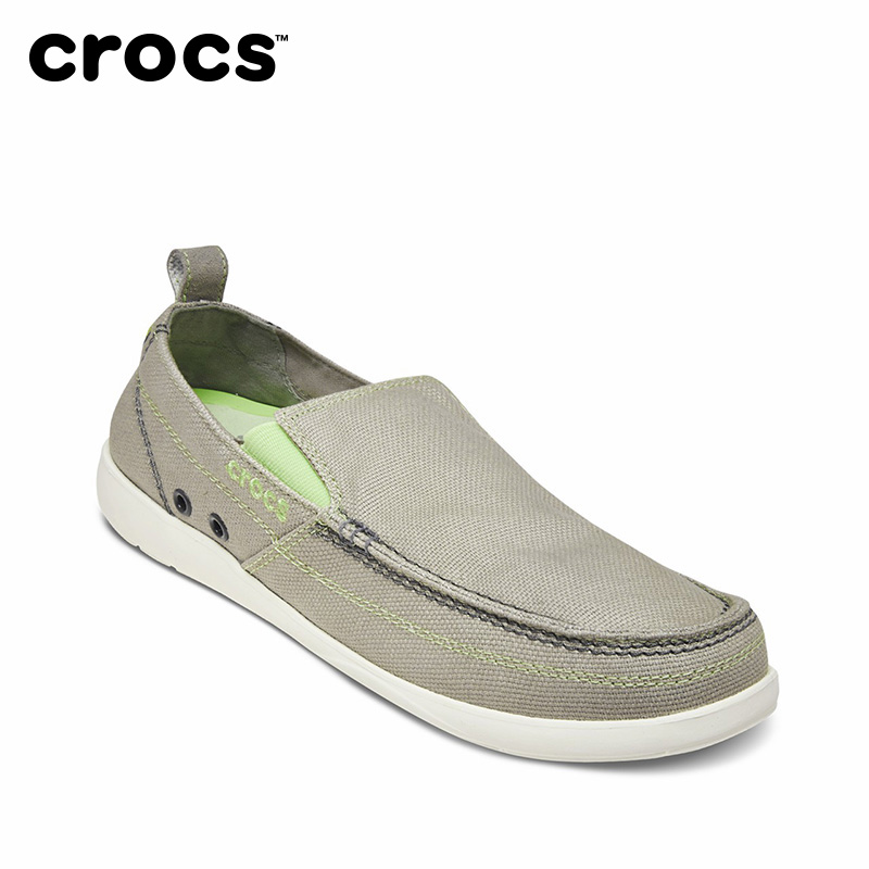 CROCS Men Spring Walking Shoes Flats Canvas Loafers Shoes Low Top Slip on Sneakers Crocs Shoes Adult FootwearCROCS Men Spring Walking Shoes Flats Canvas Loafers Shoes Low Top Slip on Sneakers Crocs Shoes Adult Footwear
