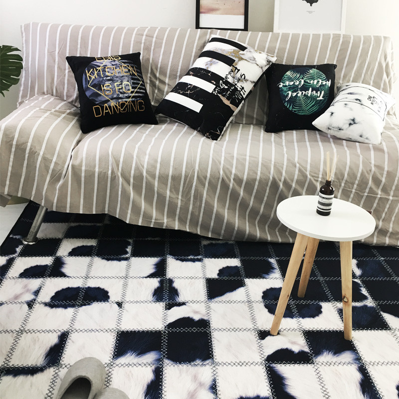 Etonnant Luxury Zebra Cow Style Carpet Black White Pattern Mat Geometry Bedroom  Living Room Non Slip Rug Custom Made In Rug From Home U0026 Garden On  Aliexpress.com ...