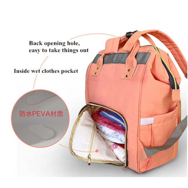 Fashion Mommy Diaper Backpack – Fashionable Large Capacity for Mom and Dad