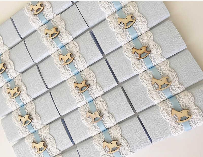 50 pcps هزاز الحصان خشبية الأشكال الحرفية استحمام الطفل التمريض موضوع سكرابوكينغ زينت الشوكولاته الحسنات