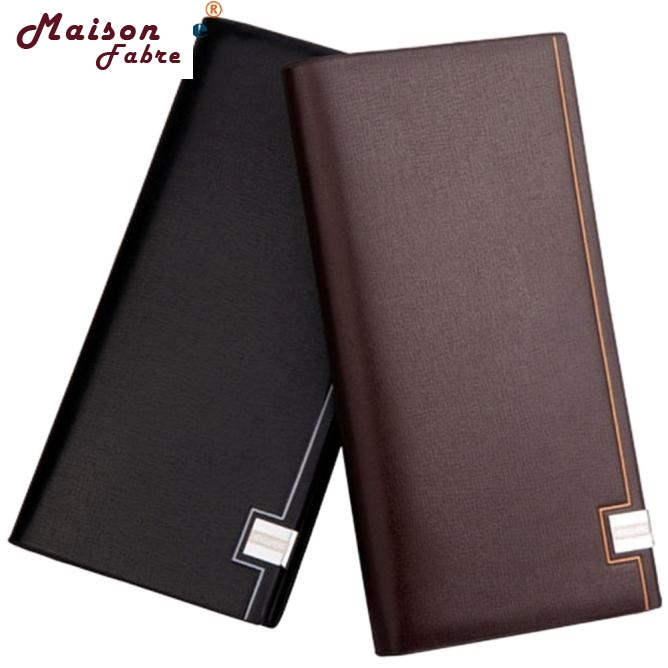 Maison Fabre Jasmine Men Long Bifold Business Leather Wallet Money Card Holder Coin Bag Purse 0119 drop shipping the pelican brief