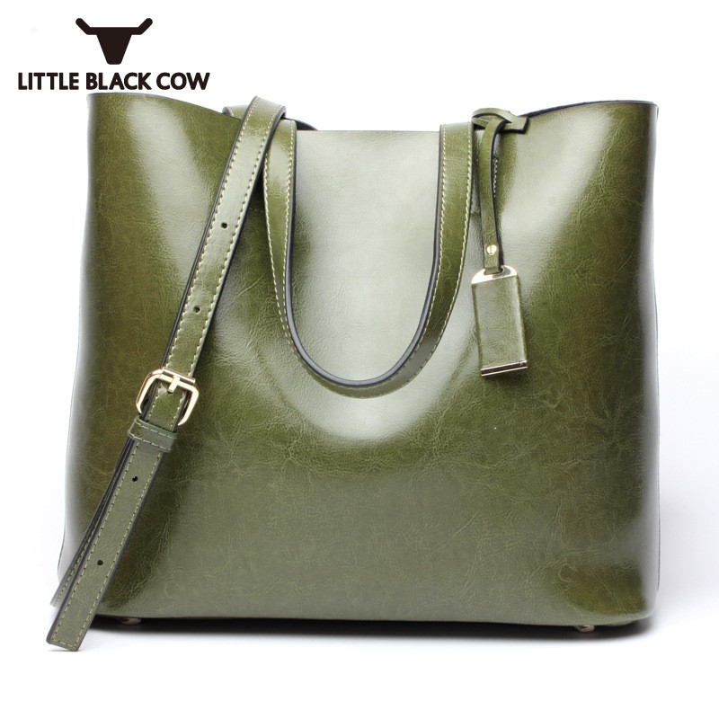 Grand sac seau étudiant Shopper sac fourre-tout sacs pour femmes 2019 femmes sur l'épaule sacs dames en cuir véritable sac à main chaud