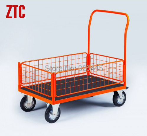 Heavy Duty Platform Trolley With Mesh Side Industrial