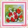 3d Fita Bordado diy Pintura Decorativa Flores Padrão de Kits de Bordados Artesanais Acessórios Para Casa de Moda Decoração Da Parede C-0185