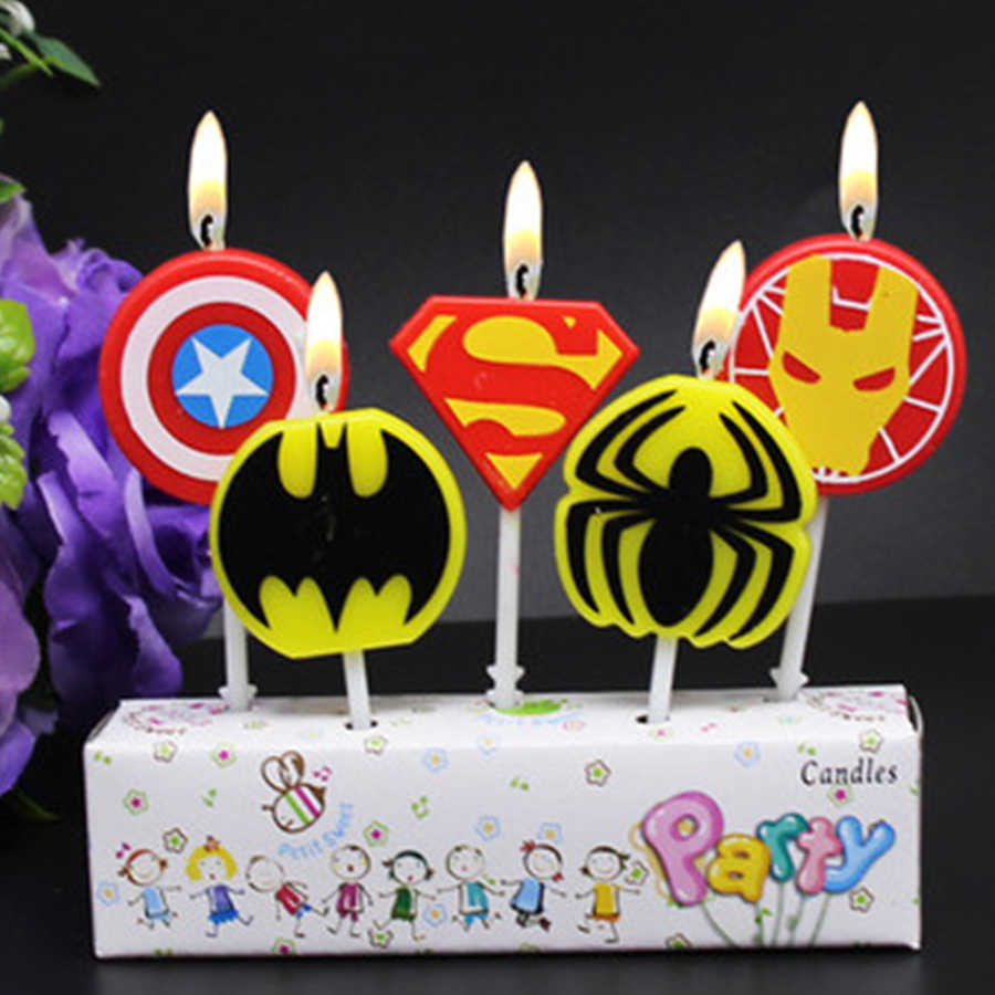 Detail Feedback Questions About 5pcs Avenger Superhero Themed Baby Shower Wedding Decorations Ideas Hulk Funny Birthday Cake Candles Topper Party Favor