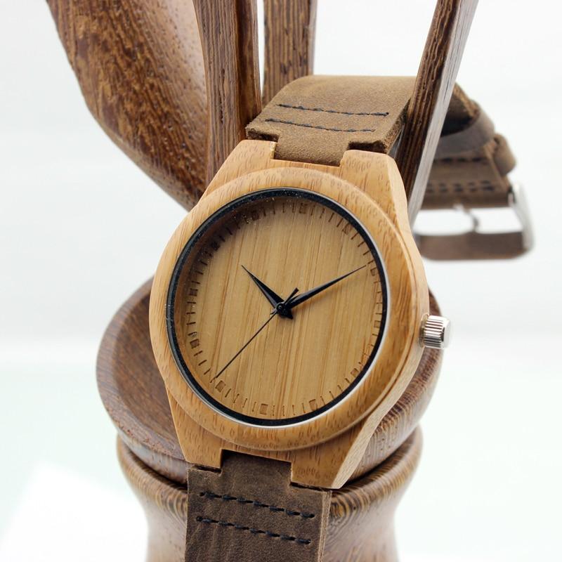 BOBO BIRD Unique Lover Natural Bamboo Wood Casual Zegarki kwarcowe w - Męskie zegarki - Zdjęcie 3
