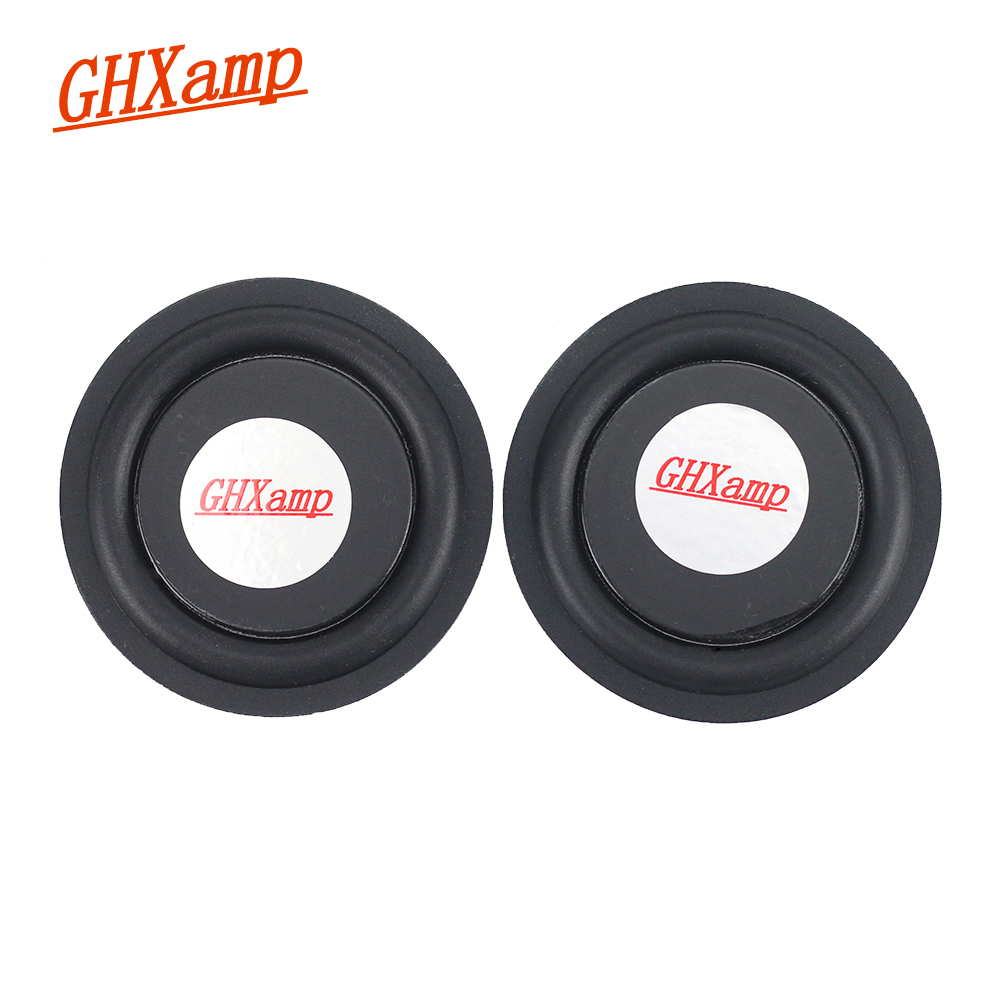 GHXAMP 2PC 52MM Rubber Bass Vibration Plate Diaphragm Low Frequency BASS Radiator For Auxiliary Subwoofer Bluetooth Speaker DIY