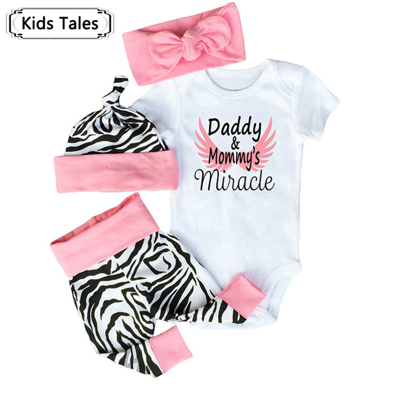2018 Fashion Newborn Baby Girls Autumn Infant Clothes Baby Clothing Set Cotton Romper+Pants+Hat+Headband Toddler 4Pcs suit SY240 недорго, оригинальная цена