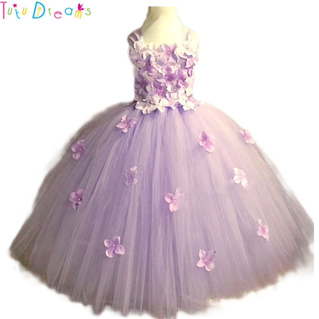c509812a8bcd Light Pink Hydrangea Flower tutu dress Flowers Girls Wedding Birthday Party  Dresses Can Be Customized Any Colors Lavender Ivory