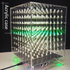 LEORY Acrylic Case For 8x8x8 512LED DIY 3D Light Cube Kit MP3 Music Spectrum DIY Electronic