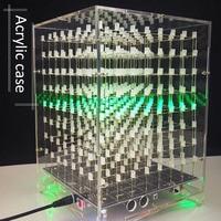 LEORY Acrylic Case For 8x8x8 512LED DIY 3D Light Cube Kit MP3 Music Spectrum DIY Electronic