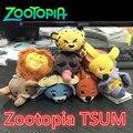 1 ШТ. 2017 Новый Zootopia Цум Кролик Джуди Львиное Сердце Слон Скота Фокс Leopard Плюшевые Куклы Игрушки Zootopia Куклы 9 Стили