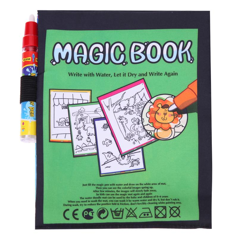 Magic-Water-Drawing-Book-Kids-Animals-Drawing-Book-with-Magic-Pen-Baby-Educational-Doodle-Painting-Board-Coloring-Drawing-Toys-1