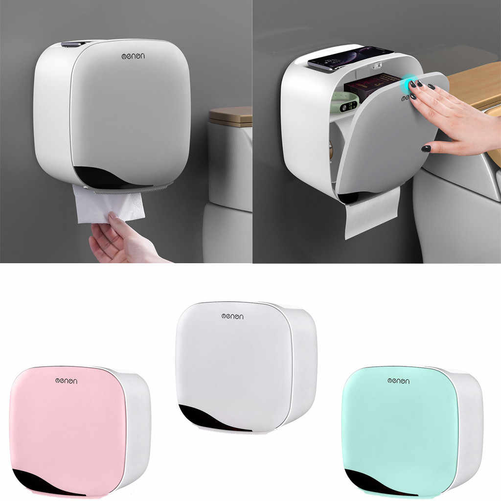 Modern Plastic Tissue Box European Style Home Tissue Container Towel Napkin Home Office KTV Hotel Car Facial Case Holder