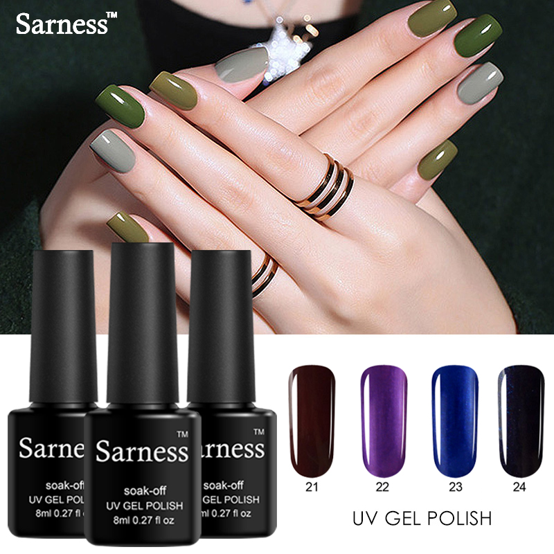 Sarness Regular Nail Polish 29 Colors UV Gel Nail Polish