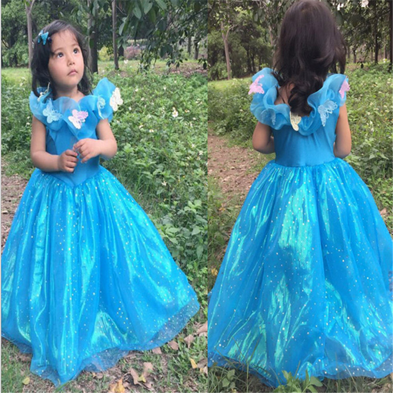 2018 New high quality Cinderella Dresses Mother and daughter Princess dress Cosplay Clothes Party Dress girl Halloween costumes
