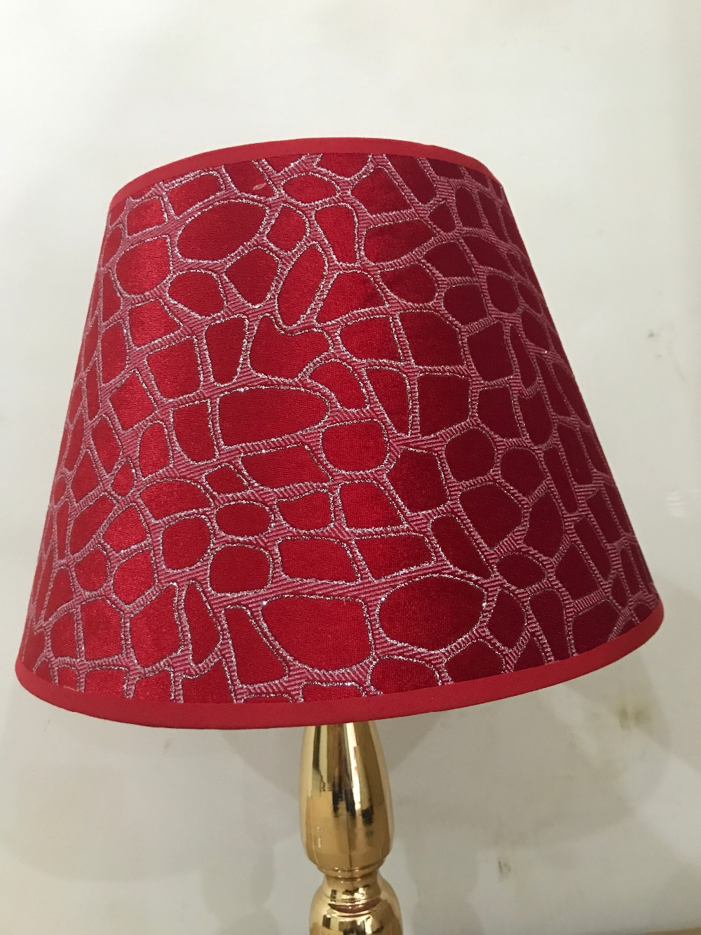 R Lamp shade for table lamps flower Abstract Pattern Textile Fabrics Fashionable Decorative red E27 table lamp shade