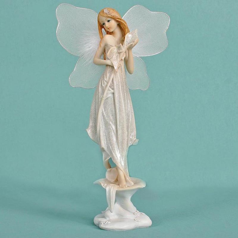 Krásná dívka tvůrčí dárky pryskyřice ozdoby umělé pryskyřice domácí dekorace miniaturní víla figurky květinové víly
