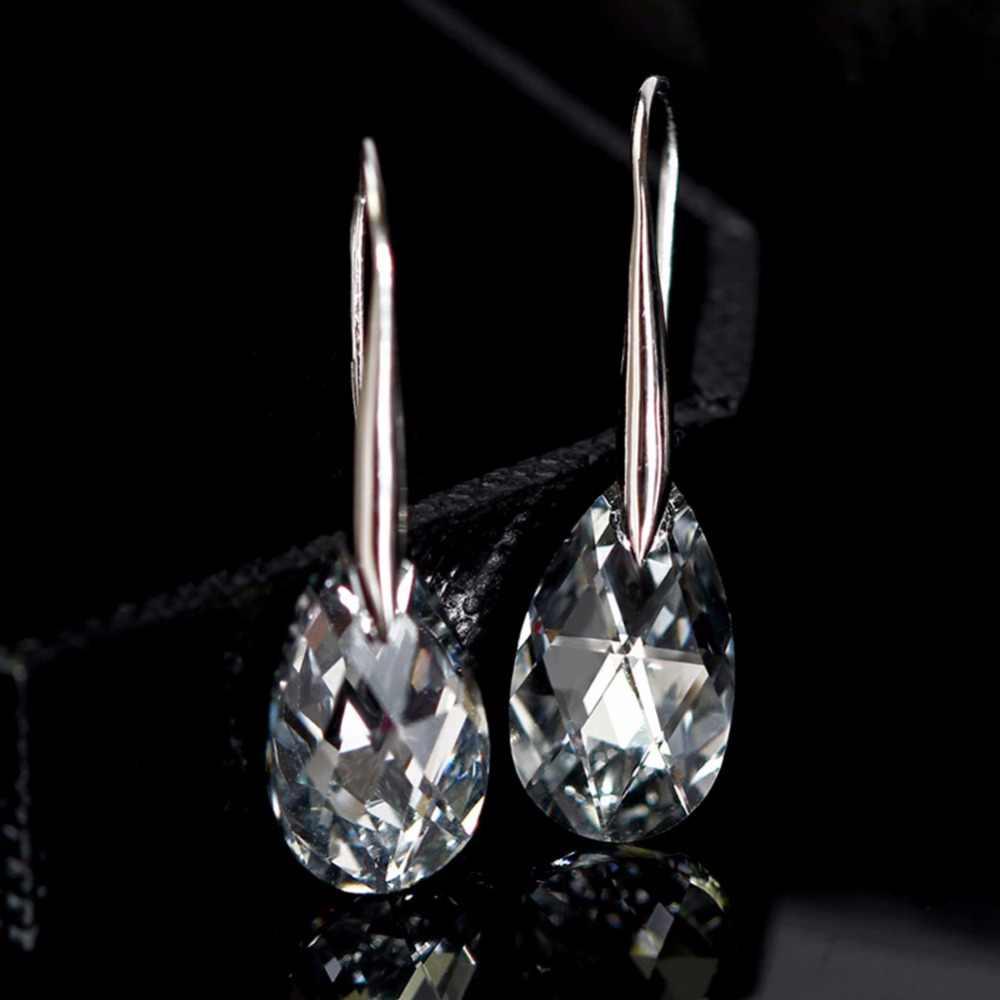 Nieuwe 925 Sterling Zilver 100% Originele Kristallen Uit Oostenrijkse Kristallen Oorbellen Oorbellen Party 925 Sieraden