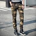 Новая Мода Camo Jogger Брюки Камуфляж Случайных Брюки Комбинезоны Джинсы Брюки Брюки Мужские Свободная Перевозка Груза