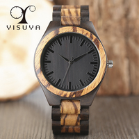 Casual Luxury Business Quartz Watches Mens Creative Nature Wooden Bracelet Full Wood Trendy Wristwatch Gift Free