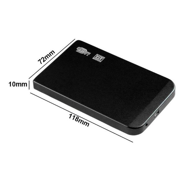 Ultra Thin HDD Case SATA to USB 3.0 SSD Adapter Hard Drive Case External HDD Enclosure for 2.5 inch HDD SSD hard disk 4