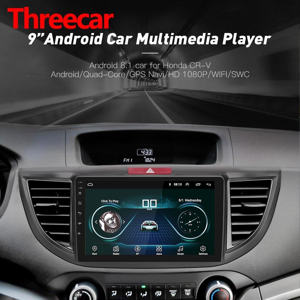 Android 8.1 Quad core Car Radio GPS Navigation Head Unit Player for 2012 2015 Honda CRV 9 inch HD 1024*600 2019 christmas
