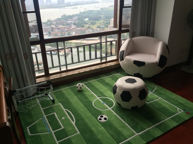 Acrylic Soccer Field For Children Living Room Carpet Tapete Alfombras Tapis Salon Carpets Rugs And Tapetes Rug In From Home Garden On