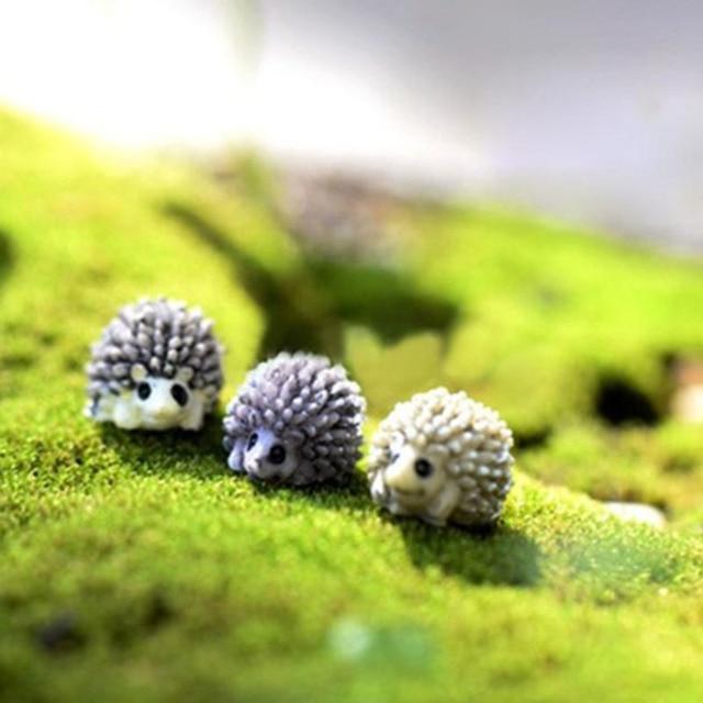 10pcs Miniature Hedgehog Decor Home Decoration Accessories Garden Craft  Miniature Animal Dollhouse Pot Qute Hedgehog Decor