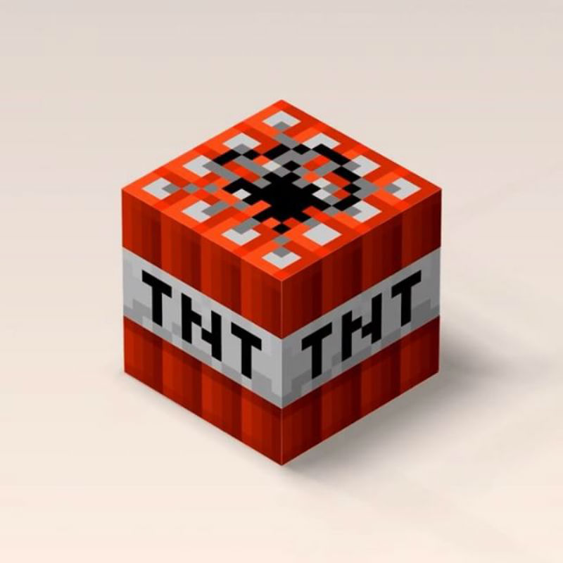 20/30/40 cm Minecraft TNT-fylld tecknadsspel Leksaker Elastisk - Plysch djur