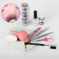 Portable Eye Lash False Eyelash Extension Kit Full Set With Silver Color Case