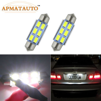 39mm Canbus Error Free License Number Plate Light LED Bulbs C5W For BMW 3 5 series E36 E46 E34 E39 E60 X5 E53(00-07) M5 image