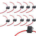 EE support 10PCS 16 Ga ATC Fuse Holder Box InLine AWG Wire Copper 12V 30A Blade Plug XY01