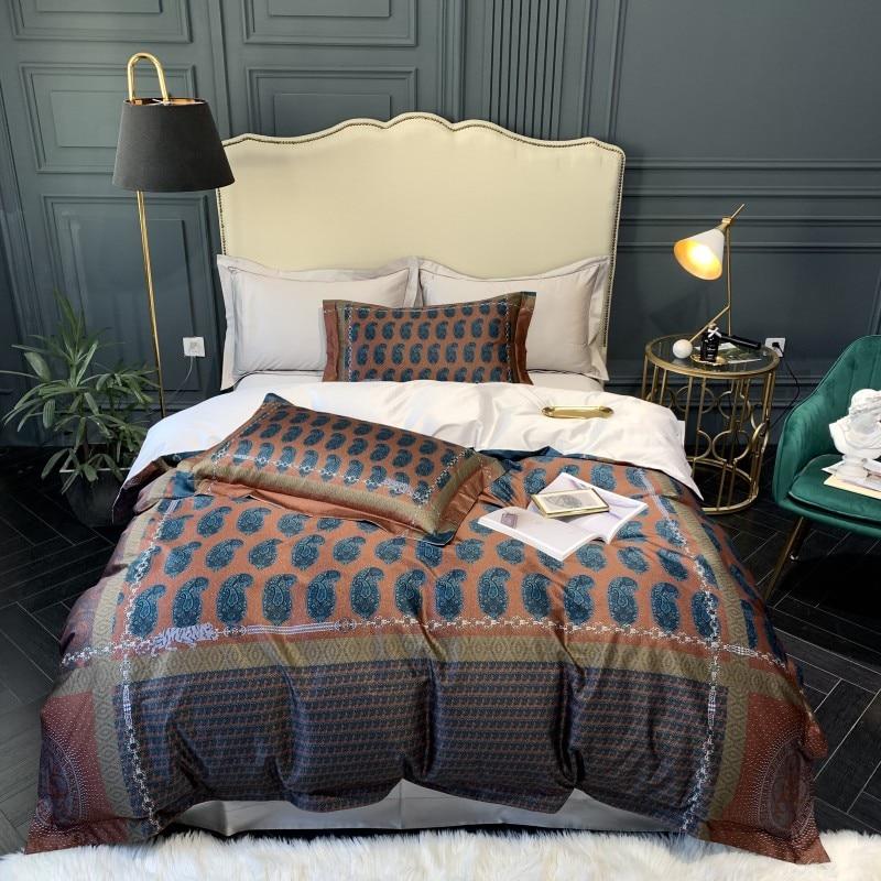 1000TC algodón egipcio de lujo Duver juego de cama QUEEN KING SIZE ropa de cama con sábana o almohada de sábana ajustada shams-in Juegos de ropa de cama from Hogar y Mascotas    1
