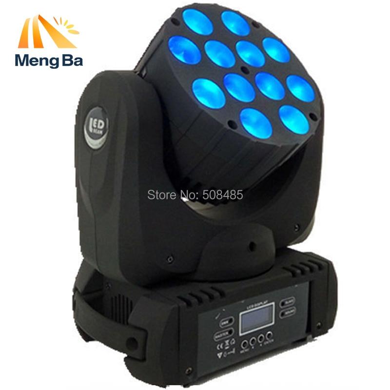 12x12 W RGBW 4in1 Cree LED faisceau principal mobile, LED avec d'excellents Pragrams dmx 9/16 canaux DJ