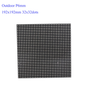 Image 3 - P6 Outdoor module 192*192mm SMD3535 32*32dots 1/8S Waterproof led screen panel for advertising LED display screen
