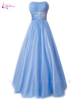 Waulizane Chic Silk Satin A Line Bridesmaid Dresses Floor Length Pleat Style Sleeveless Off The Shoulder