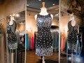Дешевые Искра Черный Короткие Homecoming Платья 2017 Платье Пром Платья Формальное Вечернее Платье для Выпускного вечера Плюс размер