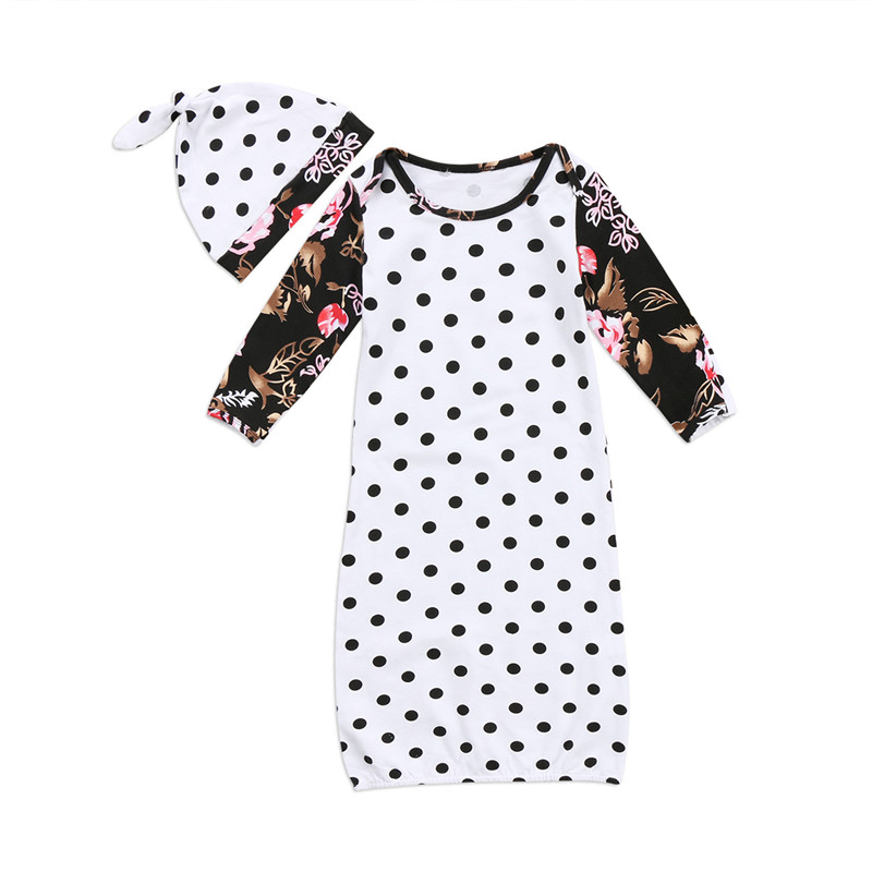 Nett Nette Baby Neugeborenen Langarm Floral Schlafsack Swaddle Dot Decke Knit Kinder Kokon Pod Schlafsack