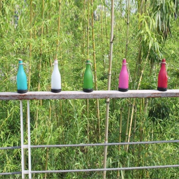 Luzes postas solares lâmpada de garrafa led