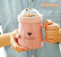 Hot Sale CutCreative Micro Landscape Milk Drink A Cup Of Coffee Mugs High Capacity Office Ceramic