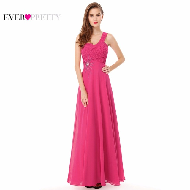 Prom Chiffon Long Formal Gown Evening Dresses Ever Pretty Beaded Waist Elegant One Shoulder HE08077 New Arrival Evening Dresses