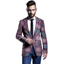 African clothes mens blazers Ankara pattern print slim fit jacket male business style men coat wedding suits