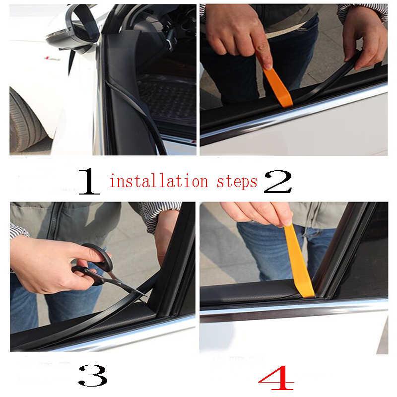 100cm Car Accessories Window Seam Soundproof Sealing Strip For VW Passat B5 B6 Polo Golf 4 5 6 7 Chevrolet Cruze Lada Granta RAM in Car Stickers from Automobiles Motorcycles